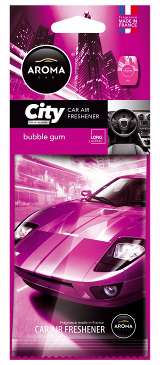 Aroma car CITY - Bubble Gum osviežovač vzduchu do automobilu